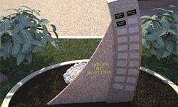 Jardin du souvenir - Stéles
